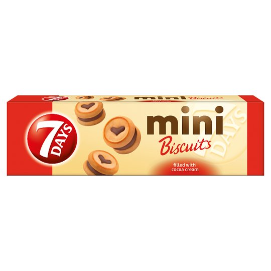7DAYS Mini Biscuits keksz kakaós töltelékkel 100 g