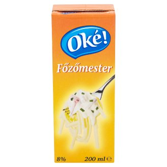 Oké! Főzőmester UHT Cream Product 8% 200 ml