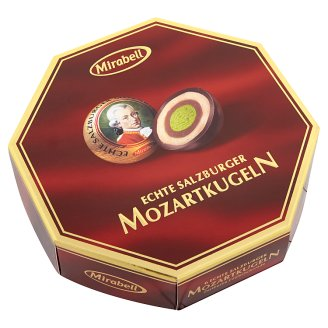 Mirabell Mozartkugeln Chocolates with Light and Dark Praline Fillings and Marzipan 100 g