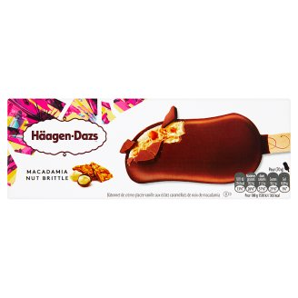 Häagen-Dazs Vanilla Ice Cream in Belgian Chocolate with Macadamia Nut Pieces 80 ml