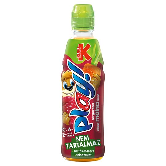 Kubu Play! sárgarépa-alma-málna-lime ital 400 ml