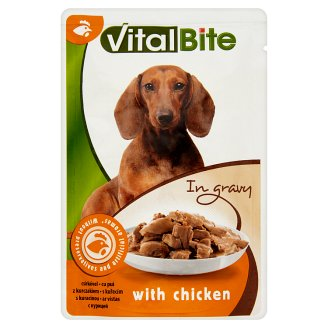 VitalBite Complete Pet Food for Adult Dogs with Chicken in Gravy 85 g
