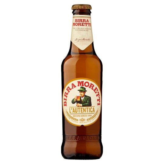 Birra Moretti Lager Beer 4,6% 0,33 l Bottle