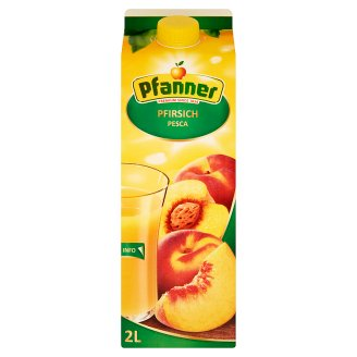 Pfanner Peach Drink Made from Peach Purée 2 l
