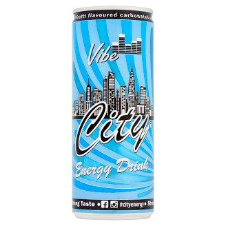 City Vibe koffein- és vitamintartalmú, tutti-frutti ízű szénsavas energiaital 0,25 l