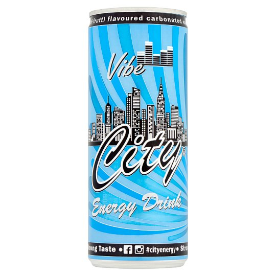 City Vibe Tutti-Frutti Flavoured Carbonated Energy Drink with Caffeine and Vitamins 0,25 l