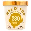 Halo Top vanília fagylalt, cukorral és édesítőszerekkel 473 ml