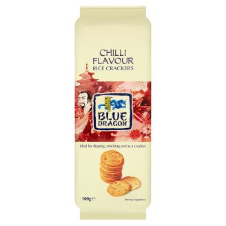 Blue Dragon chili paprika ízesítésű ropogós rizs tallérok 100 g