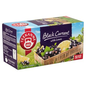 Teekanne World of Fruits Black Currant and Lemon Flavoured Fruit Tea Blend 20 Tea Bags 50 g