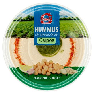 Fanan Hummus Chickpea Cream with Hot Sauce 250 g