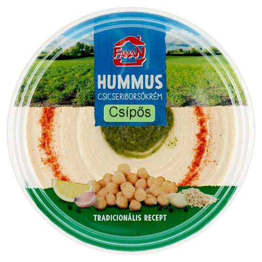 Fanan Hummus Hot Chickpeas Cream 250 g