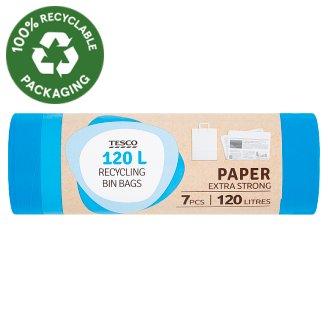 Tesco Paper Extra Strong Recycling Bin Bags 120 l 7 pcs