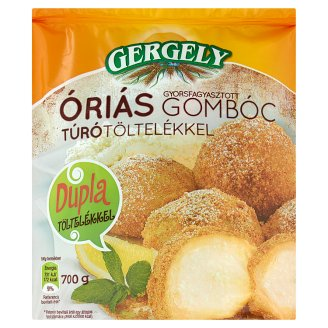 Gergely Quick-Frozen Giant Dumplings with Cottage Cheese Filling 700 g