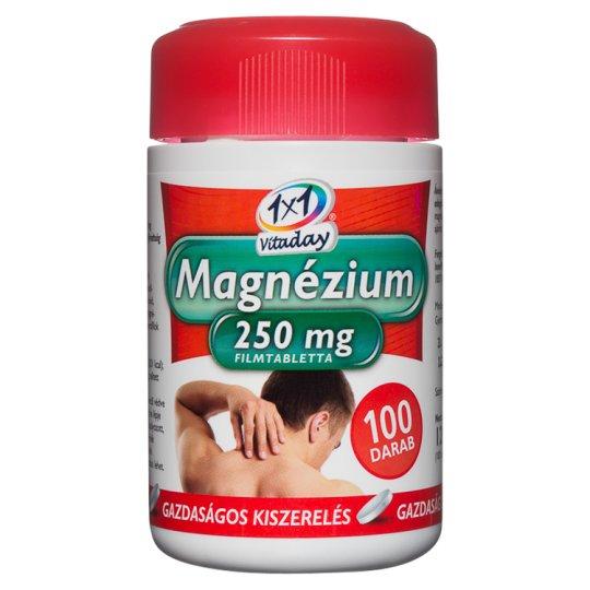 1x1 Vitaday Magnézium 250 mg étrend-kiegészítő filmtabletta 100 db 120 g