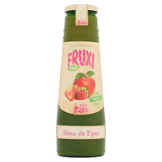 Fruxi Fresh Apple and Strawberry Cold Pressed 100% Fruit Juice 750 ml
