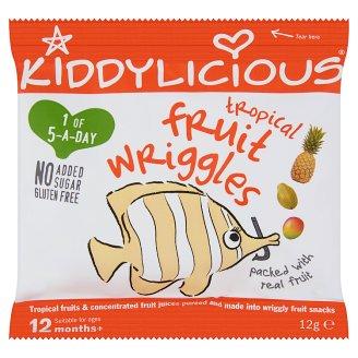Kiddylicious trópusi gyümölcsös rágócsíkok 12 hónapos kortól 12 g