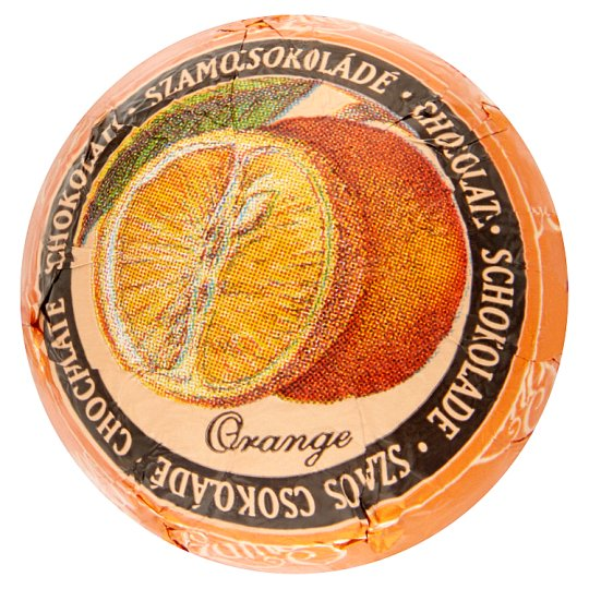 Szamos Szamosgolyó Orange Flavoured Filled Marzipan Dessert with Chocolate Coating 27 g