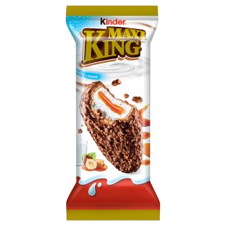 Kinder Maxi King Milk Chocolate & Crushed Hazelnut Covered Wafer with Milky & Caramel Filling 35 g