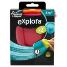 Tommee Tippee Explora Large Weaning Pots with Soft Push Up Base 4m+ 2 pcs