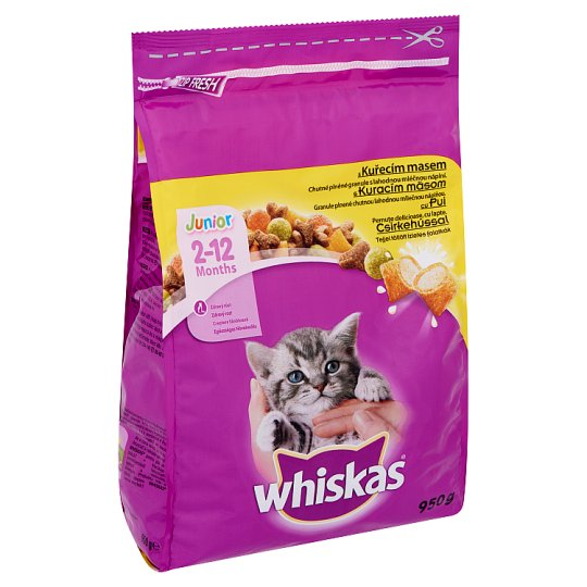 Whiskas Junior Complete Pet Food for Junior Cats with Chicken 950 g