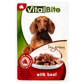 VitalBite Complete Pet Food for Adult Dogs with Beef in Gravy 85 g