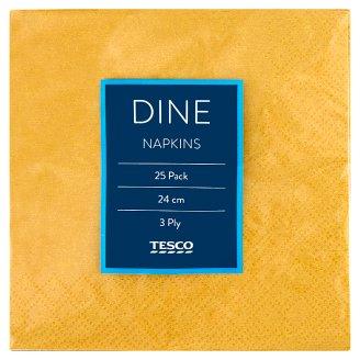 Tesco Dine Napkins 3 Ply 24 cm 25 pcs