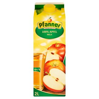 Pfanner 100% Apple Juice Made from Apple Juice Concentrate 2 l