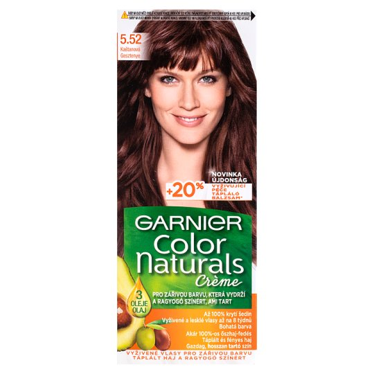 image 1 of Garnier Color Naturals Crème 5.52 Chestnut Nourishing Permanent Hair Colorant