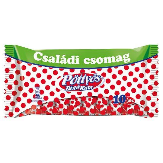Pöttyös Túró Rudi Unflavoured Cottage Cheese Dessert 10 x 30 g