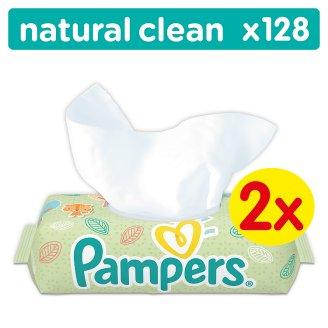 Pampers Natural Clean Babatörlőkendő 2x64 darabos kiszerelés