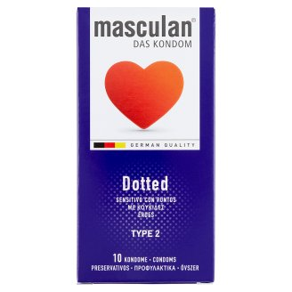 Masculan Dotted Condoms 10 pcs