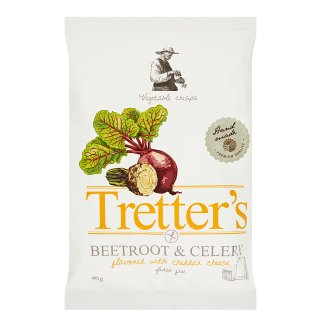 Tretter's Cheddar Cheese Flavoured Vegetable Chips 90 g