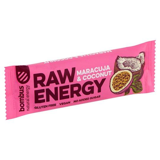 bombus Raw Energy Maracuja & Coconut gyümölcs szelet 50 g