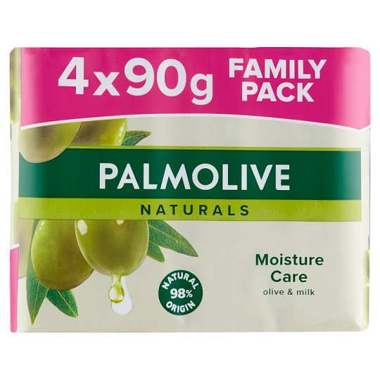 Palmolive Naturals Moisture Care Soap with Olive 4 x 90 g