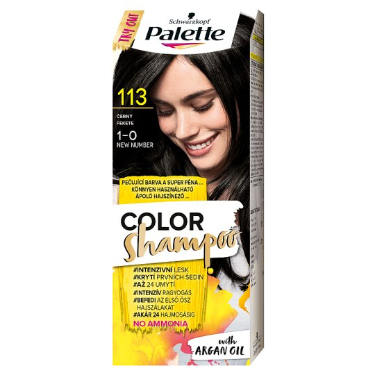 Schwarzkopf Palette Color Shampoo hajszínező 1-0 fekete (113)