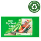 Tesco Small Zip Seal Bags 25 pcs
