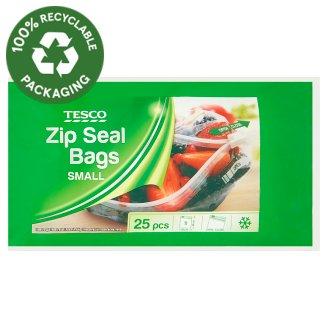 Tesco Small Zip Seal Bags 25 pcs