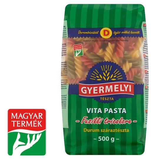 Gyermelyi Vita Pasta Vegetable Spindle Durum Wheat Dry Pasta 500 g