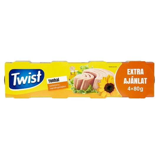 Twist Tuna in Sunflower Oil 4 x 80 g