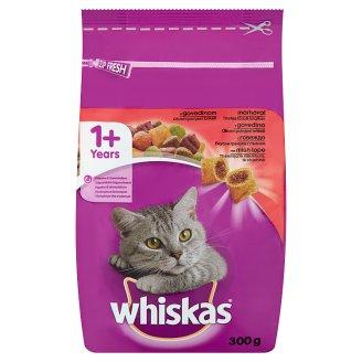 Whiskas 1+ teljes értékű állateledel felnőtt macskák számára marhahússal 300 g