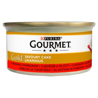 Gourmet Gold Complete Pet Food for Adult Cats with Beef and Tomato 85 g