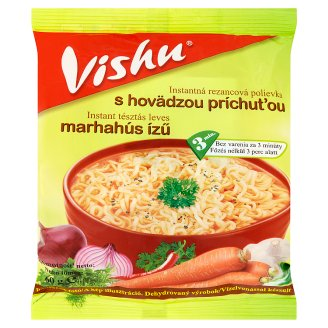 Vishu Beef Flavoured Instant Soup with Pasta 60 g
