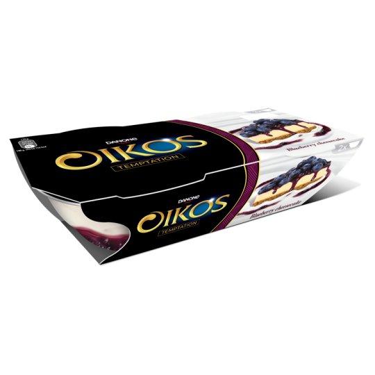 Danone Oikos élőflórás görög krémjoghurt áfonyás-sajttortaízű öntettel 2 x 110 g