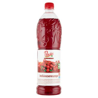 Pölöskei Indian Cherry Flavoured Syrup with Sugar and Sweetener 1 l