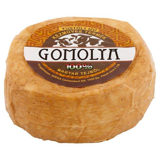 Zsíros, félkemény füstölt ízű gomolya sajt