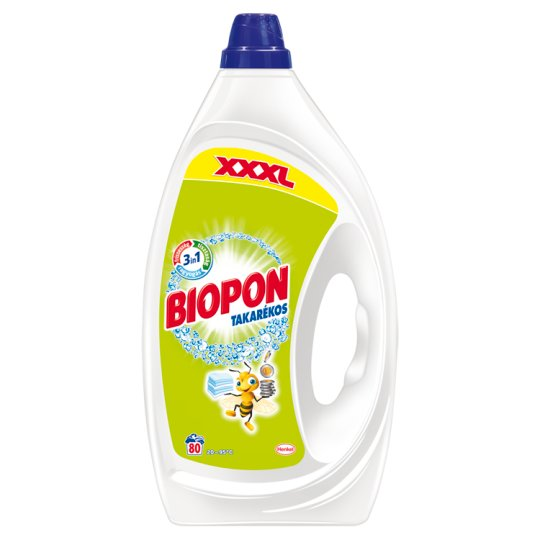 Biopon Takarékos mosószer 80 mosás 4 l