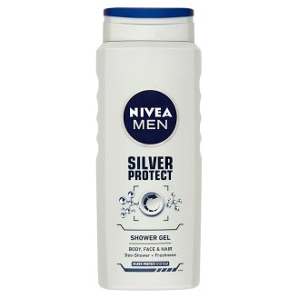 NIVEA MEN Silver Protect Shower Gel for Body, Face and Hair 500 ml