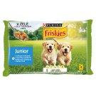 Friskies Junior aszpikos válogatás nedves kutyaeledel 4 x 100 g