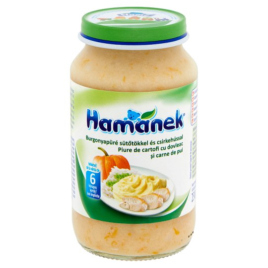 Hamánek Potato Puree Pumpkins and Chicken Breast Baby Food 6+ Months 230 g