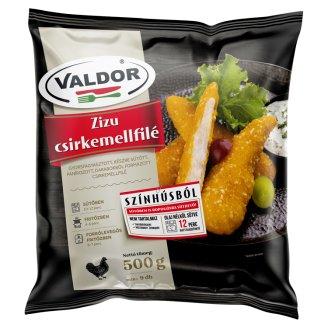 Valdor Zizu Kedvence Quick-Frozen, Ready-Fried, Breaded Chicken Breast 500 g